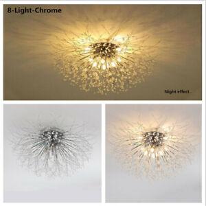 Modern Sputnik Dandelion Ceiling Light Firework Semi Flush Mount Chandelier Lamp