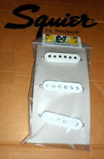 NEW ! FENDER Squier STRATOCASTER PICKUP Set of Three with White Covers & Screws