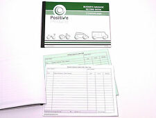 Mileage Record Book HMRC Compliant Duplicate Mileage Log Pad