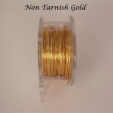 GOLD  NON TARNISH 18GA WIRE 12FT. PRO-QUALITY