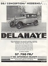 PUBLICITE  AUTOMOBILE DELAHAYE   CAR   AD  1929 -1H