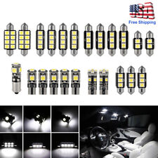 23pc LED White Car Light Bulb Interior Map Dome Trunk License Plate Lamps Kit