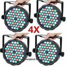 4x 54 LED RGB Stage PAR64 Light DMX-512 Home Club Party DJ Lighting Strobe Light