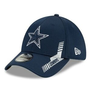 2021 Dallas Cowboys New Era 39THIRTY NFL Home Sideline On Field Stretch Hat Cap