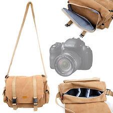 Tan Carry Canvas Bag for Fujifilm FinePix HS25EXR / SL1000 / SL260 / X100s