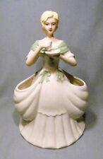 THT Designs Ceramic Lady Drinking Tea Utensil Tissue Storage Holder Figurine