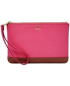 NWT Fossil Leather Mother's Day Wristlet, Pomegranate, Gift Boxed, SL7007661