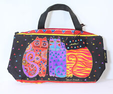 Laurel Burch Colourful Cat Small Tote Shoulder Bag Brand New with Tags