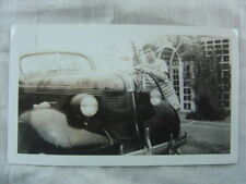 Vintage Car Photo Girl Washing 1937 Pontiac 828