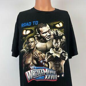 WWE CM Punk John Cena Randy Orton Road To Wrestlemania 28 Bootleg T Shirt Size L