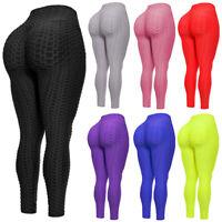 Women  Anti Cellulite High Waist Yoga Pants Push Up Leggings Workout Trousers A3