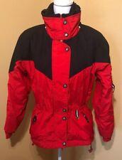 Vintage Women's Obermeyer Christie Jacket Size 10  Red Black Ski Snow