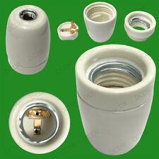 Cerámica Esmaltada Rosca Edison es E27 Calor Bombilla Lámpara titular Socket M10 Rosca
