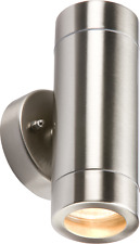 IP65 LIGHTWEIGHT STAINLESS STEEL UP & DOWN DOUBLE FIXED WALL LIGHT GU10 35W