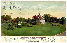 POST CARD. Residence of E.H. Barney, Springfield, Mass. 1904.  (BI#47)