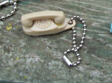 Princess Phone Key Chains Brown  Bell Telephone Advertsiing Vintage