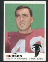 1969 Topps #159 Jim Burson NM/NM+ Falcons 63172