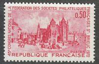 France 1972 MNH Mi 1793 Sc 1344 Saint-Brieuc, Cathedral.Roman Catholic church **