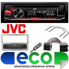 JVC MP3 CD RDS SINTONIZZATORE USB AUX STEREO AUTO & VAUXHALL MERIVA Kit fascia d'argento
