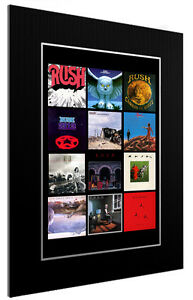 MOUNTED / FRAMED PRINT THE FIRST 12 RUSH ALBUMS  3 SIZES POSTER GIFT ARTWORK