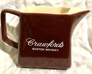 Vintage CRAWFORDS SCOTCH WHISKY WATER JUG WADE REGICOR Whiskey Hotel Old Pub Bar