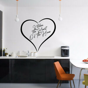 Stickers for Kitchen is Heart of Home, Removable Home Decor Decals, DIY quotes D