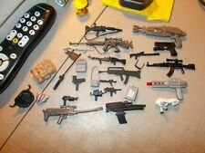 Lot Of 26 Weapons , Guns And Accessories For G I Joe + Other Figures