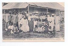 AFRIQUE scenes types ethnies missions  Ethnics eveque groupe chrétiens indigenes