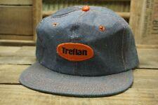 Vintage TREFLAN Denim Snapback Trucker Cap Hat Patch