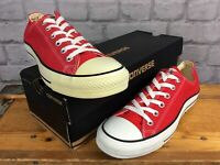 CONVERSE ALL STAR UNISEX RED CANVAS LO OXFORD TRAINERS MENS WOMENS VARIOUS SIZES