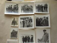 SET OF ORIGINAL WW2 PHOTOS FRANCE 1944 CHURCHILL VISIT. FANTASTIC SET LOOK!