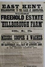 More details for east kent hillborough farm 1909 reculver land poster sale   e3.307