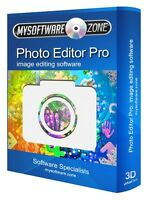 Photo Editor Pro - Image Editing Software CD PC Digital Photography Software New