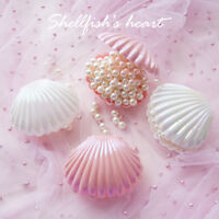 Shell Ring Necklace Earrings Jewelry Storage Organizer Box Case Charm Gift lu DS
