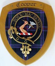 NOS Scottish Clan COOPER Oak Tartan Plaque Crest Shield