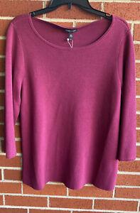 New Eileen Fisher Silk Organic Cotton Interlock Sweater Mum L Large