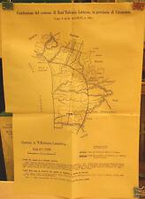 1935 COSTITUZIONE DEL COMUNE DI SANT'EUFEMIA LAMEZIA PROV. CATAZANZARO CARTINA