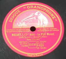 "Reynaldo Hahn ""Mozart"" Yvonne Printemps P 825 78 trs RPM 10'' 25 cm NM -"
