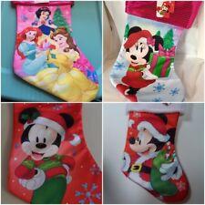 Disney Mickey Minnie Mouse Princess Frozen Elsa Kids Christmas Stocking New
