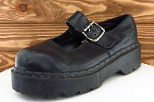Dr. Martens Size UK 6 M Black Mary Jane Shoes Leather Women