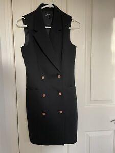 Bardot Black Sleeveless Blazer Dress size 6 new without tag