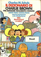 [466] IL DIZIONARIO DI CHARLIE BROWN ed. Rizzoli 1975 per imparare l'inglese I e
