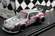 EBBRO 1:43 SCALE  MARTINI PORSCHE 911 RSR TURBO LE MANS 1974 DIE CAST MODEL CAR