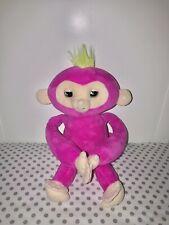 WowWee Fingerlings HUGS - Bella (Pink) - Advanced Interactive Plush Baby Monkey