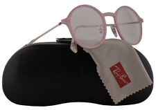 New Authentic RAY-BAN Light Ray RX7087 5639 Pink/Silver 48/21/140 Eyeglasses