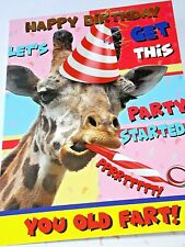 Happy Birthday Card. Giraffe Theme. Party Animal Range from Heartstring Cards.