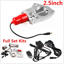 "2.5"" Inch Electric Exhaust Muffler Valve Cutout System Dump Wireless Remote Red"