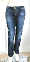 Jeans Donna Pantaloni MET Made in Italy Gamba Dritta Blu SA235 Tg 31