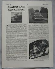 1963 Nerus modified Austin Mini Original Motor Sport Magazine test