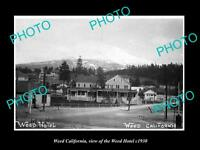 OLD LARGE HISTORIC PHOTO OF WEED CALIFORNIA, VIEW OF THE WEED HOTEL c1930